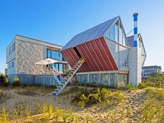 Pearlroth House aka Double Diamond house, Weshapton Beach, NY. Midcentury modern icon designed by Andrew Geller, 1959. Brought back from the brink of destruction by CookFox Architects.