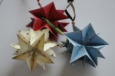 Weihnachtsanhänger, der zum Stern wird