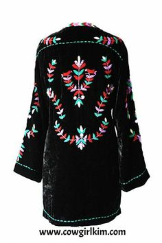 """Brands :: Double D Ranch :: DOUBLE D RANCH """"WOODLAND"""" VELVET EMBROIDERED JACKET! - Native American Jewelry