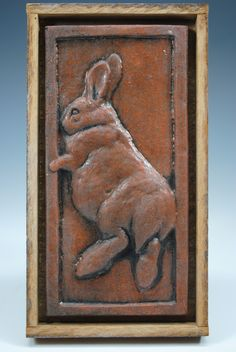 Rabbit          Carolyn Dilcher-Stutz Tile Murals, Tile Art, Rabbit Run, Year Of The Rabbit, Bunny Painting, Cross Stitch Fairy, Some Bunny Loves You, Bunny Art, 1920s Art Deco