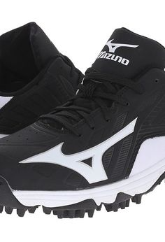 Mizuno 9-Spike Advanced Erupt 3 Low (Black/White) Men\u0027s Cleated Shoes