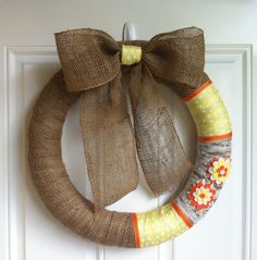 Burlap Wreath. $55.00, via Etsy.
