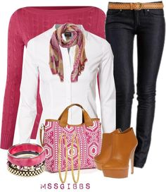 """""""Cable Sweater"""" by mssgibbs on Polyvore"""