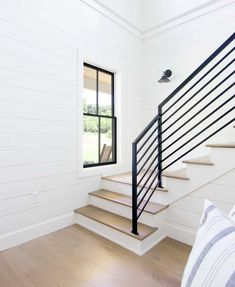 How to Choose the Right Interior Moldings for Your Home #stairs #farmhouse #stairrailings
