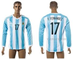 http://www.yjersey.com/argentina-201516-17-ffernandez-home-long-sleeve-thailand-jersey.html ARGENTINA 2015-16 17 F.FERNANDEZ HOME LONG SLEEVE THAILAND JERSEY Only $35.00 , Free Shipping!