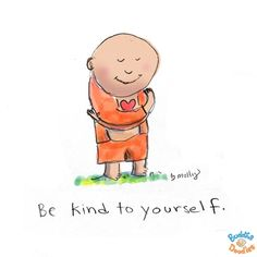 Be kind to yourself | Buddha Doodle by @Mollycules