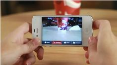 Augmented Reality, Starbucks - To get into the Christmas spirit, Starbucks created an AR app that allowed customers to see seasonal animations interact with their cups on  their  phone screen.By pointing the smartphone's camera at selected cups from starbucks, viewers got to see 1 of 5 animations appear.