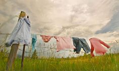 I so miss my clothesline! One chore I looked forward to doing. There was something therapeutic about hanging clothes and watching them blow in the breeze.