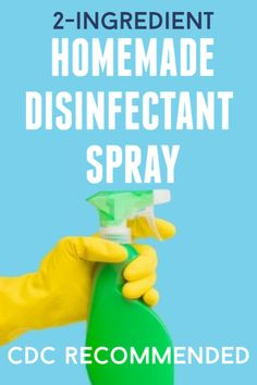 Learn how to make and use a powerful household disinfectant spray with only bleach and water. Homemade Cleaning Products, Cleaning Recipes, House Cleaning Tips, Cleaning Hacks, Natural Disinfectant, Disinfectant Spray, Bath Body Works, Diy Cleaners, Cleaners Homemade
