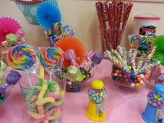 Candy buffet for a childs birthday