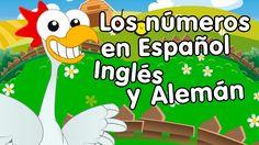 Canción de los números del 1 al 10 en español, inglés y alemán - cancion...