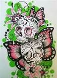 Sugar Skulls Tattoos For Girls - My friend @Nicole Novembrino Sydenham will like this I think.