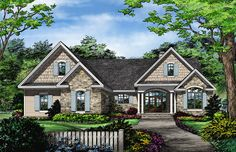 Front Rendering of Mascord Plan 1146 - The Godfrey | House ...