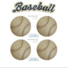 Baseball Sports Wall Stickers {5 Piece} :