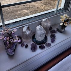 Crystals love being placed on the window sill, but don't do this for amethyst - The color fades.