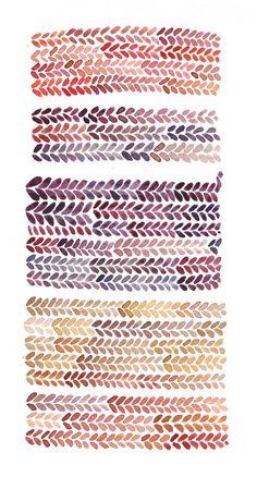 Knit-inspired pattern by Lucy Engelman (via etymologie http://anthropologie.tumblr.com/post/44793406357)