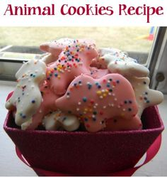 Animal Cookies Recipe! ~ just like Mothers Animal Cookies... this fun cookie recipe will have you reminiscing and the kids begging for more! #recipes