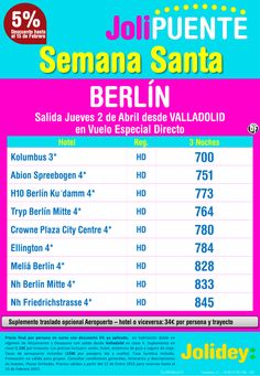 Semana Santa a Berlín desde 700€. Salida 2 Abril desde Valladolid ultimo minuto - http://zocotours.com/semana-santa-a-berlin-desde-700e-salida-2-abril-desde-valladolid-ultimo-minuto/