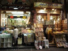 Sweet shops in the souq ,