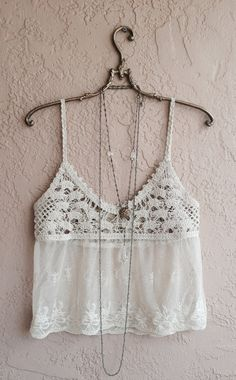 beach bohemian crop top with sheer embroidered by BohoAngels, $45.00