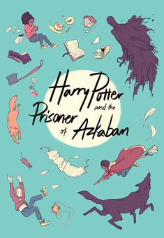 """sasmilledge: """"cover design for JK Rowling's Harry Potter and the Prisoner of Azkaban. Created for SparkNotes' Harry Potter Covers Reimagined by Our Favourite Illustrators' """" Harry Potter Facts, Harry Potter Universal, Harry Potter Fandom, Harry Potter Movies, Capas Kindle, Harry Potter Book Covers, Prisoner Of Azkaban, Comic Artist, Cover Design"""