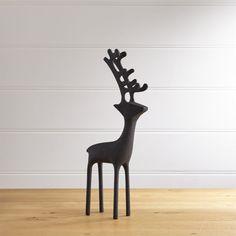 """21"""" Zinc Reindeer   Crate and Barrel"""