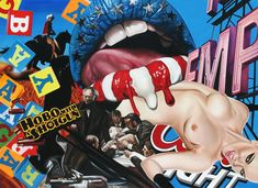james rawson pop culture (painting + collage)