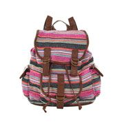 Multicoloured Woven Stripe Backpack