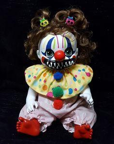 Zombie Baby Killer Clown Horror Doll Halloween Haunted House Prop