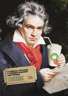 Beethoven with a coffee