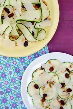 Sugg-r and some Salt: carpaccio de calabacín de Samantha Vallejo-Nágera {una receta y dos presentaciones} Carpaccio Recipe, Healthy Food Alternatives, Ceviche, Veggie Recipes, Recipe Ideas, Zucchini, Soups, Sandwiches, Fresh