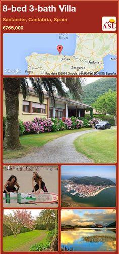 8-bed 3-bath Villa in Santander, Cantabria, Spain ►€765,000 #PropertyForSaleInSpain