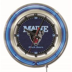 Maine Black Bears 19-Inch Neon Logo Clock