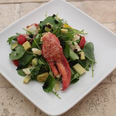 Champagne Poached Lobster Salad With A Champagne Caviar Vinaigrette #EmerilsHoliday