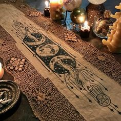 All All,Witchy/Pagan/Spiritual As Above, So Below ornate altar cloth runner, one-of-a-kind Related posts:Gardinen & Vorhänge - Modern witchCashmere Nude Nails - - Gel nailsChicken Buddha Bowl - Easy chicken dinner Pagan Decor, Pagan Altar, Witch Decor, Wiccan Alter, Religion Wicca, Under Your Spell, Altar Cloth, Altar Decorations, Witch Aesthetic