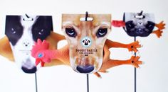Creative dog chew packaging with dog image which can be hanging for easy display designed by Mathilde Solanet.