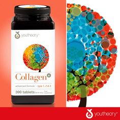 youtheory Collagen Plus Biotin, 390 Tablets 6 Grams Collagen Type 2 & 3 with 18 Amino Acids Revitalizes Skin, Hair and Nails 60 mg. Vitamin C Food Net, Health Talk, Biotin, Costco, Amino Acids, Vitamins And Minerals, Type 1, Hair And Nails, Health And Beauty
