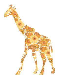inke heiland giraffe wall sticker