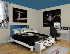 Gymnastics Technique Bedroom Design at… My New Room, My Room, Girl Room, Spare Room, Dream Rooms, Dream Bedroom, Girls Bedroom, Gymnastics Bedroom, Gymnastics Stuff