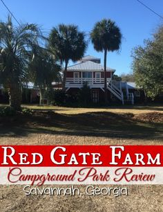 Heading to Savannah Georgia? We highly recommend the Red Gate Farm Campground and RV Park right in the heart of Savannah. This is the closest RV park is Historic Savannah Georgia. Plus you won't guess what we discovered our first night here!