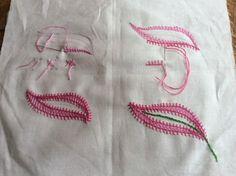 Tutorial on Jacobean embroidery stitches