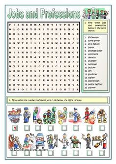 Five vocabulary activities related to jobs and professions. As you know, the students with learning difficulties or the less motivated ones need a different methodology, otherwise we lose their cooperation. Crosswords, jumbled words or matching pictures to words can be more motivating for them. Key included.More practice…
