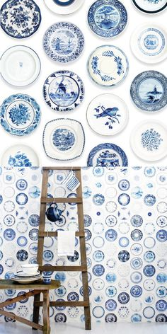 "someone else who loves cobalt blue plates as much as I do :)  I ""need"" to get more, they have some fabulous wall hangings here!"