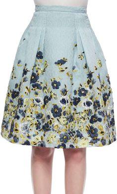 Carolina Herrera Flower Fil Coupe Party Skirt (US$2490). Debuted May 2015