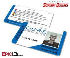 C.U.R.E. 'Scream Queens' Hospital Cosplay Employee ID Name Badge - [Photo Personalized]