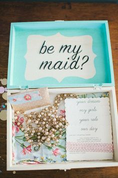 What a way to ask your friend to be your bridesmaid!! A {Kiss} of Color | A Lifestyle Blog: DIY and Ideas