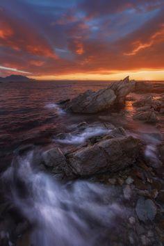 凯库拉日出 Kaikoura Sunrise - ) Best Landscape Photography, Sunset Photography, Nature Artwork, Nature Photos, Water Pictures, Beautiful Sunrise, Ciel, Amazing Nature, Beautiful Landscapes