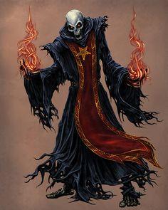 Lich Necromancer/Priest of Asmodeus