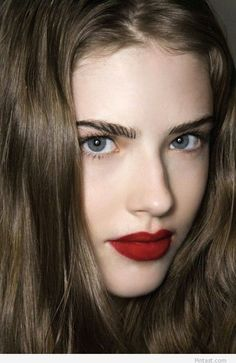 Piccsy :: Blue eyes and red lipstick
