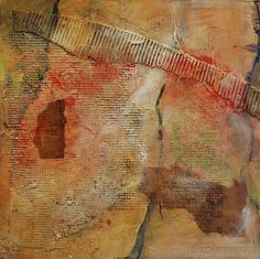 Silk Stockings I. abstract painting, texture, limited palette, value, pattern, collage, acrylic